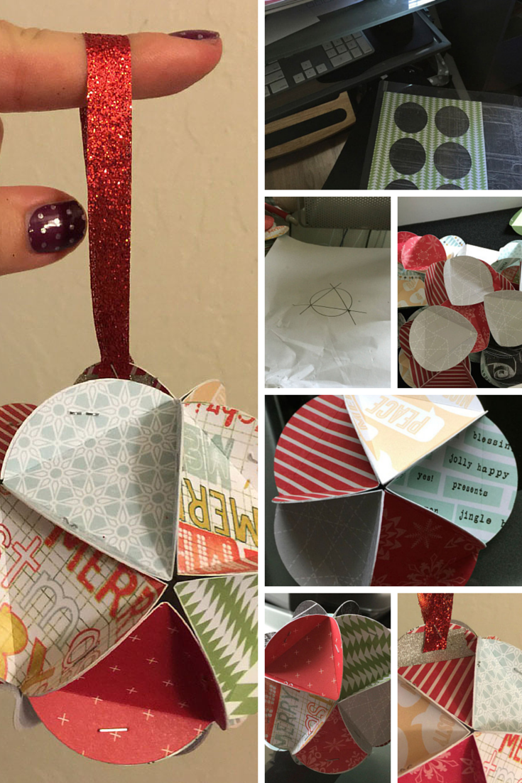 Paper Christmas Ornament Tutorial Collage