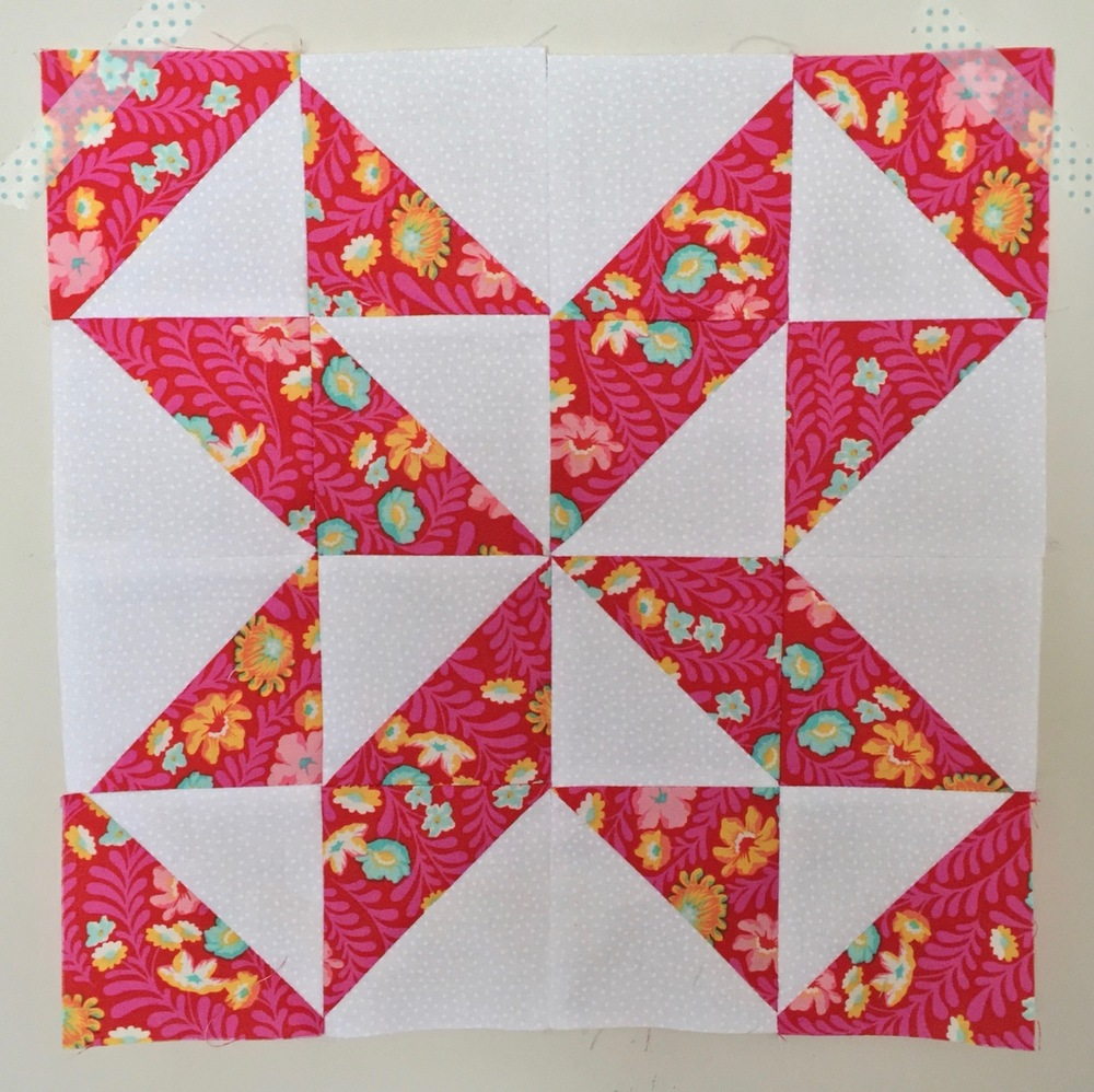 Pierced Star  Half Square Triangle Quilt Block