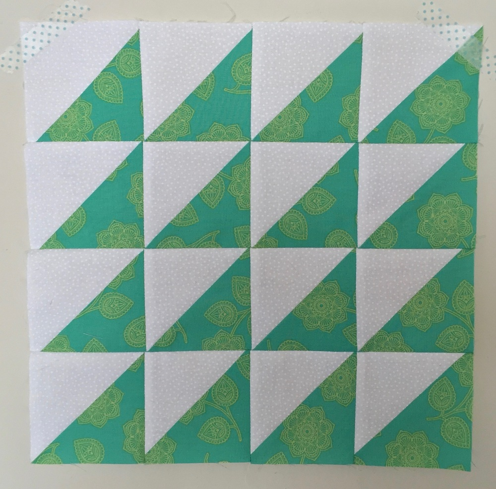 Sawtooth  Half Square Triangle Quilt Block