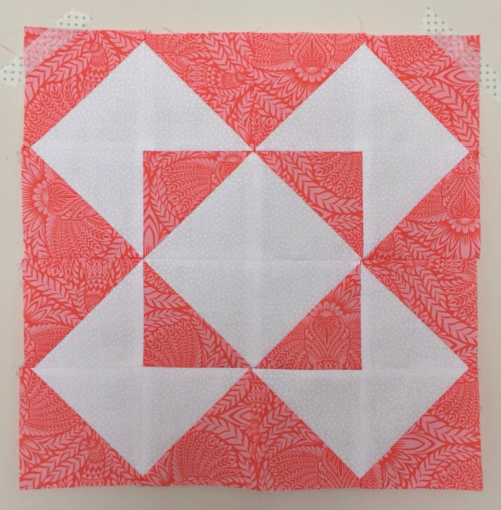 Star  Half Square Triangle Quilt Block