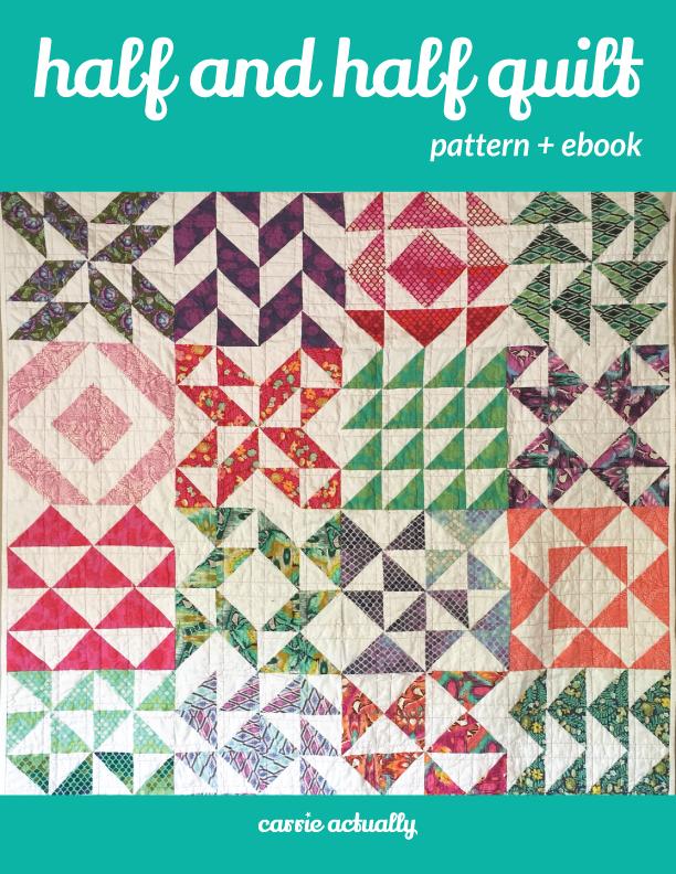 Half and Half Quilt Pattern + eBook