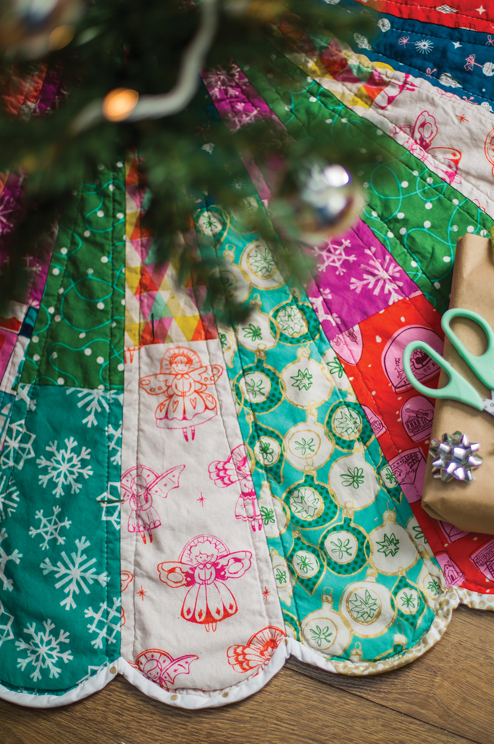 Giant Dresden Christmas Tree Skirt — Carrie Actually by Carrie Merrell