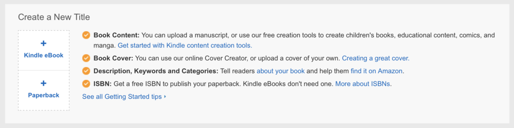 Paperback only option in Amazon KDP (Kindle Direct Publishing) interface