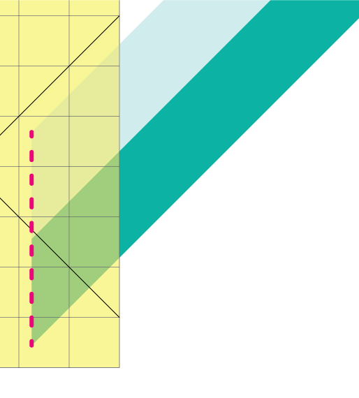 How to Strip Piece Perfect Diamonds: Illustration showing the strip unit with the 45 degree angle edge rotated so it is vertical.