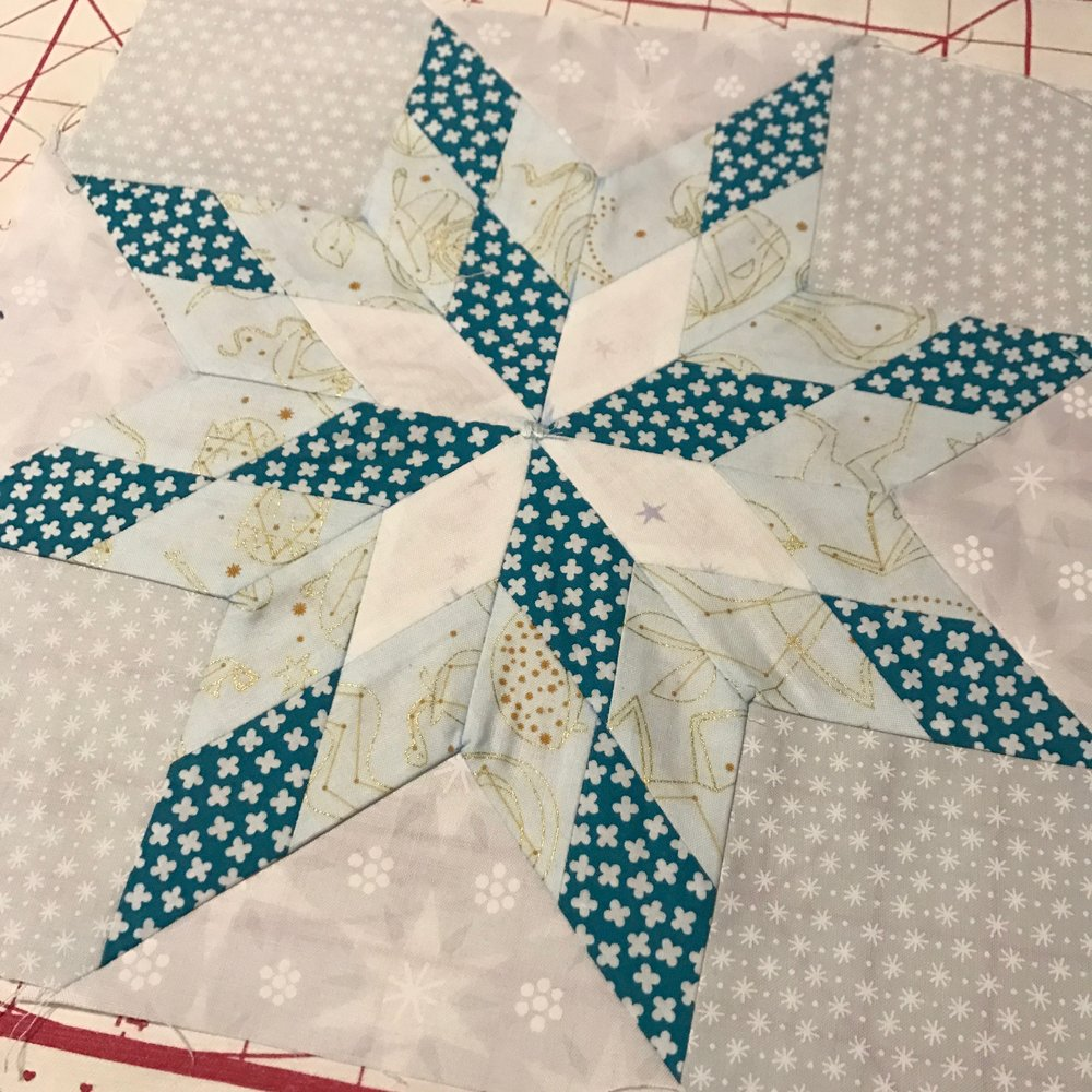 Little Lonestars Quilt Block