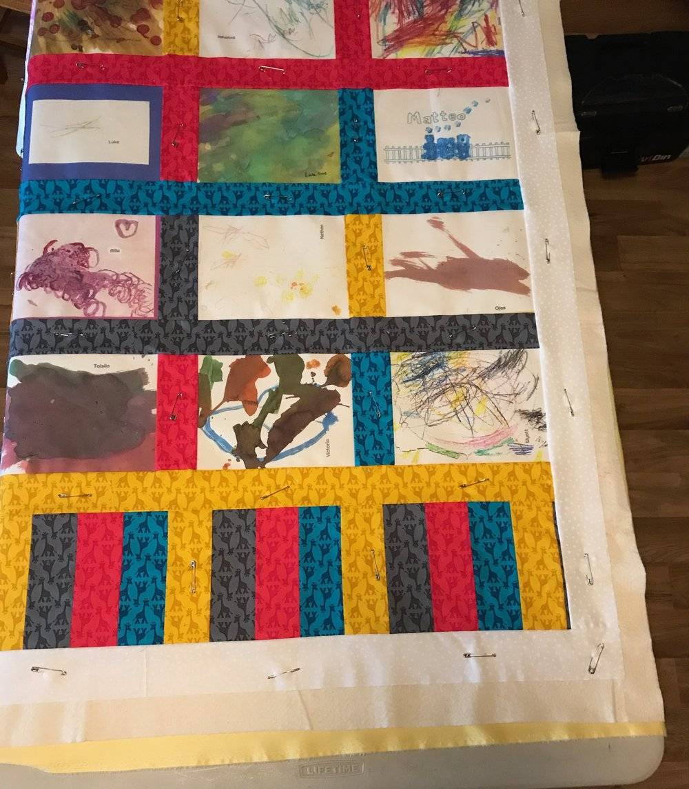 Preschool Art Quilt by Carrie Actually