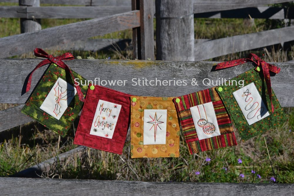 Sunflower Stitcheries and Quilting - Christmas Swag by Raylee.jpg