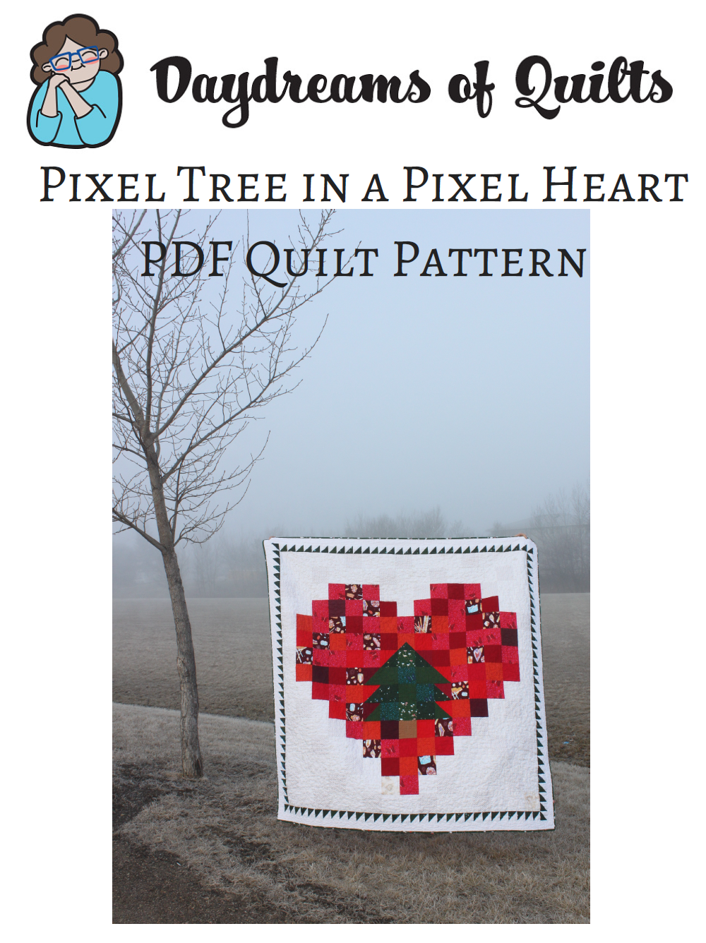 Daydreams of Quilts - Pixel Tree in a Pixel Heart by Anita LaHay.png