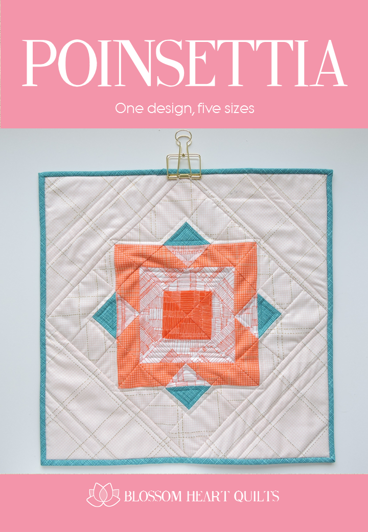 Blossom Heart Quilts - Poinsettia Pattern Cover by Alyce Blyth.png