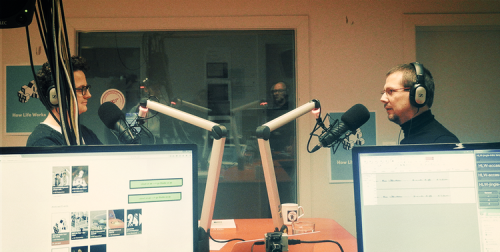 Fredo De Smet en Bart De Waele tijdens de opnames van How Life Works #5.