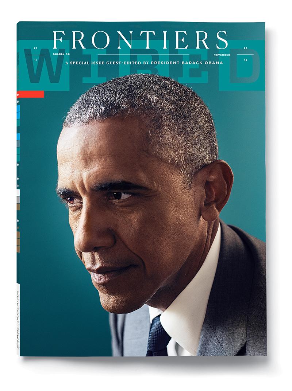 Novembernummer van Wired met president Obama als co-hoofdredacteur