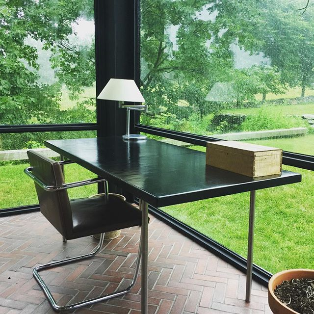 New Canaan on a rainy summer day #glasshouse #lachancecollection #architecture and design