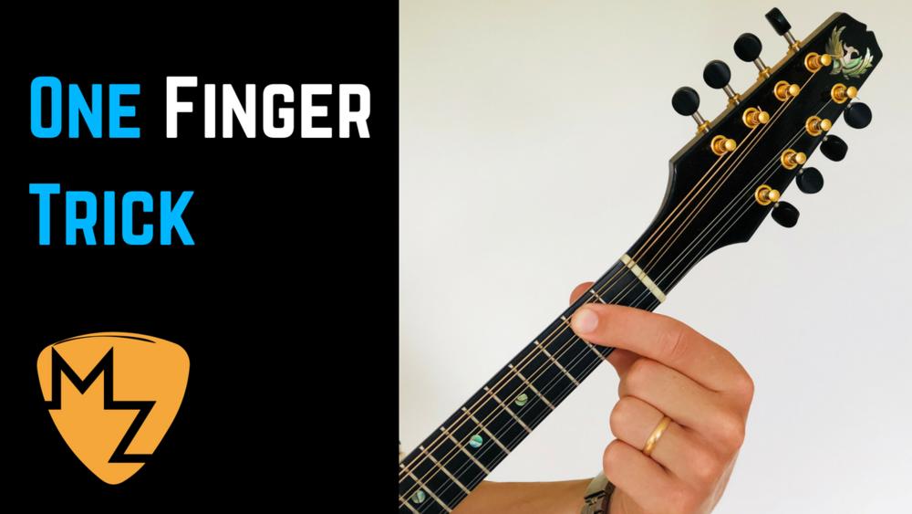 Mandolin Chord One Finger Chord Trick Tutorial Magnus Zetterlund