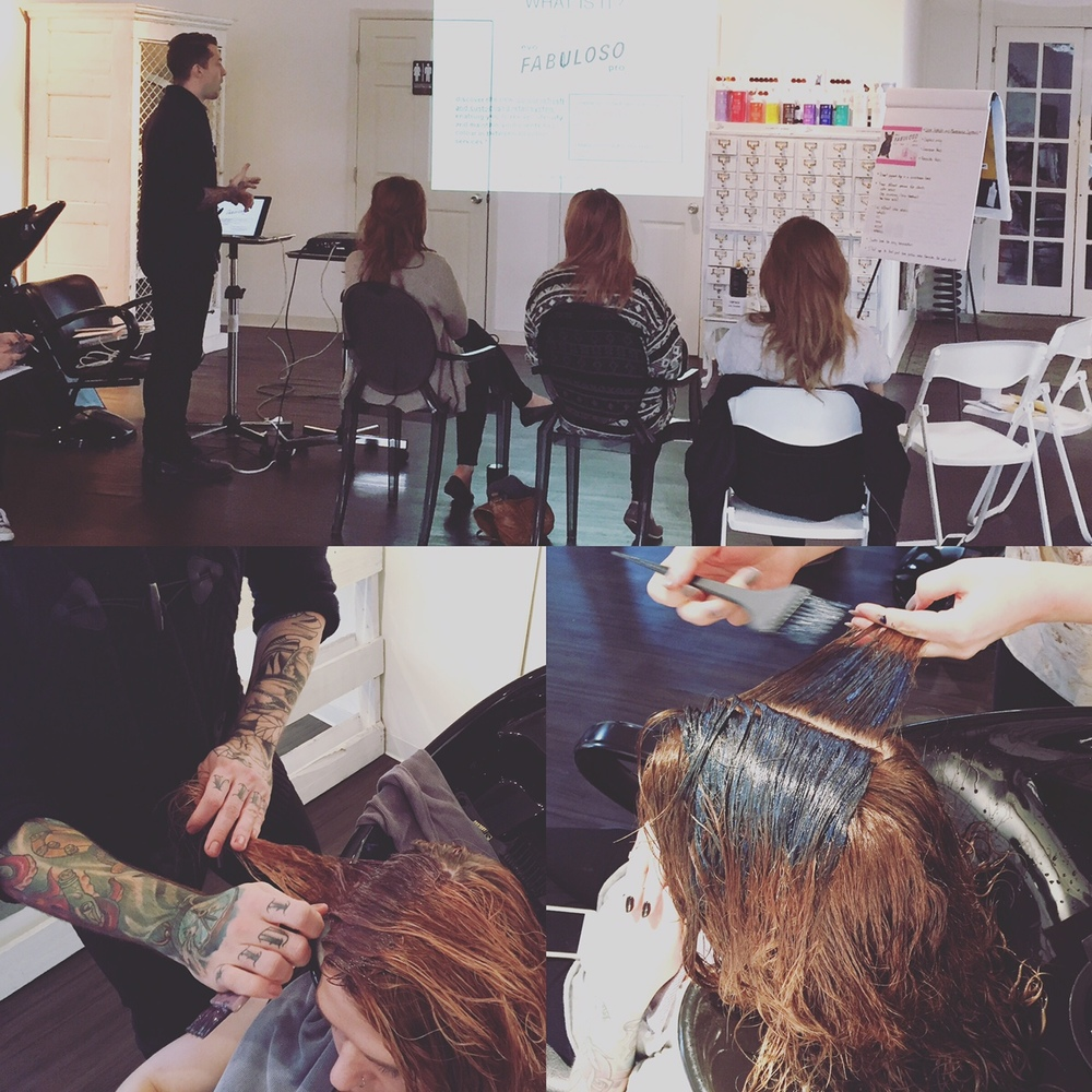 Evo Hair Products Training at Dandelion Salon/Nashville, TN