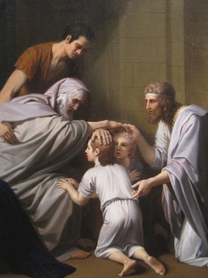 Jacob Blesses His Grandsons