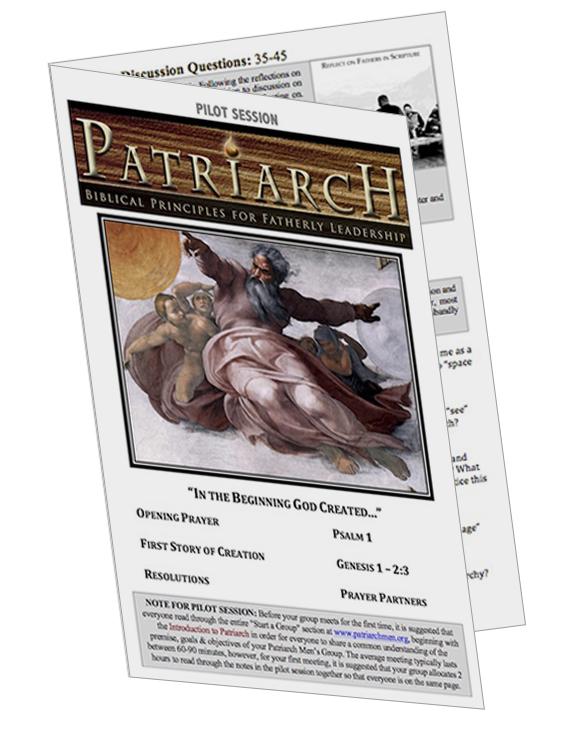 PILOT SESSION Genesis 1  - Printable Download