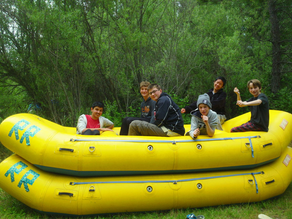 Boy Scouts go Rafting