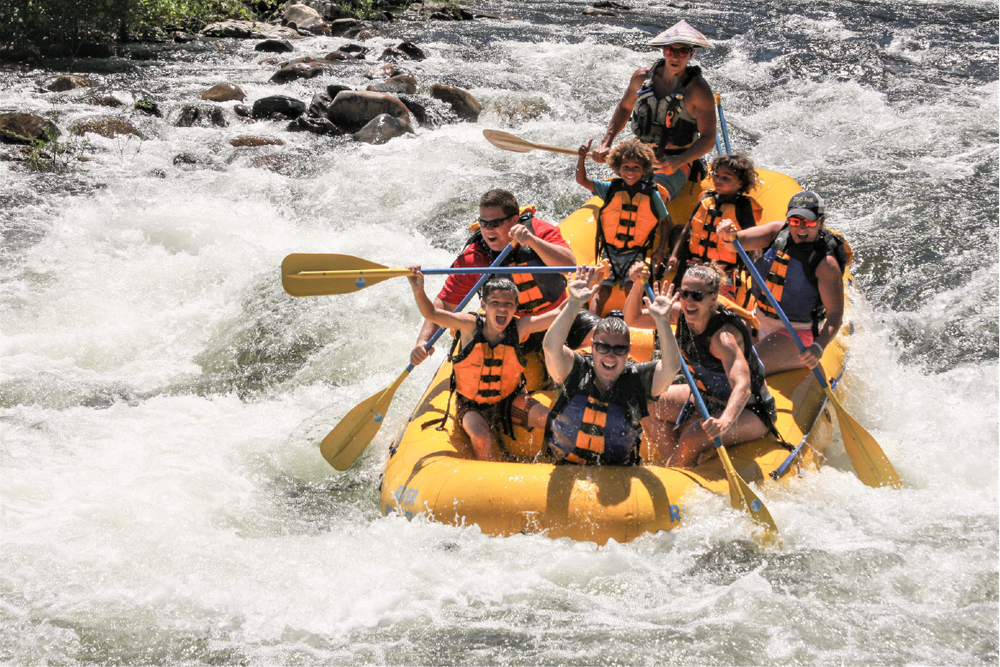 Raft California with your Family