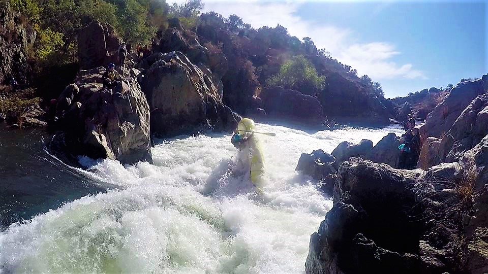 Exciting white water rafting