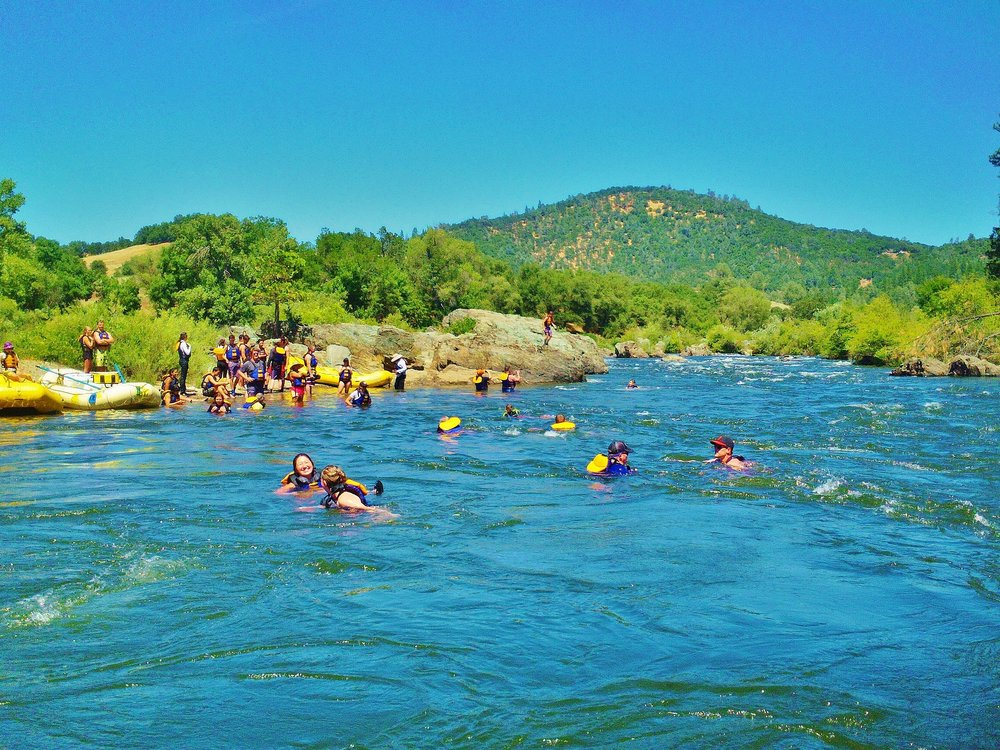 Swimming on the South Fork of the American