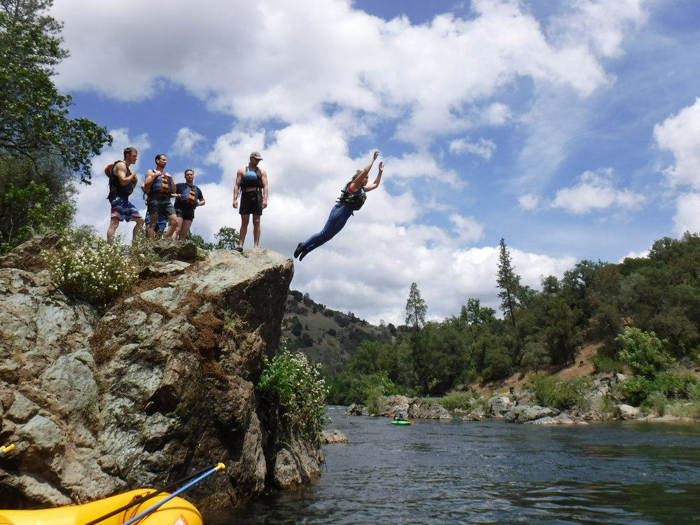 River Runners guest Kelly M taking a leap of faith!