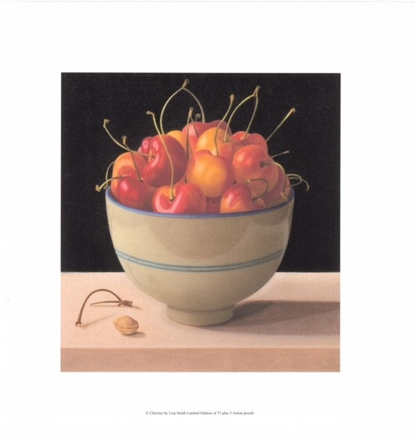 Cherries (US) By Lisa Smith 25.5cm (w) x 27 (h) - Image 37.25cm (w) x 40.25 (h) - Paper.jpg