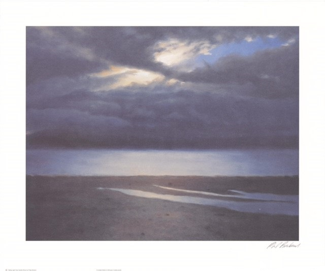 Failing Light Over Granite Shore (S) By Philip Braham 45.5cm (w) x 35.5 (h)  Image54cm (w) x 45 (h)  Paper.jpg