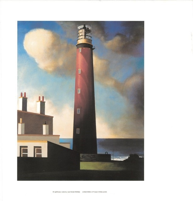 Lighthouse, Lewis (US) By Louis Sinclair McNally 40cm (w) x 30.5 (h) Image 61cm (w) x 64 (h) Paper.jpg