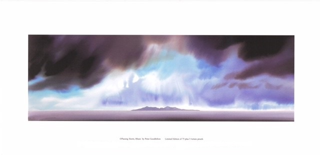 Passing Storm, Rhum (US) By Peter Goodfellow 50.5cm (w) x 16.5 (h) - Image 61cm (w) x 30 (h) - Paper.jpg