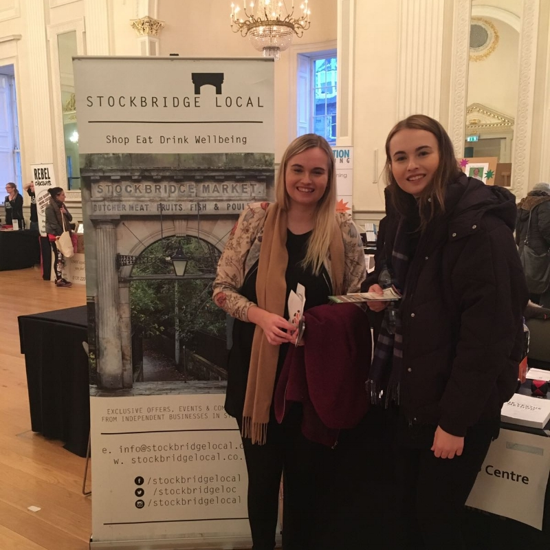 Amy Davidson was another winner of Stockbridge Local's ticket giveaway for Edinburgh Wellbeing Fest.  She stopped by on 28 Jan to say hi!