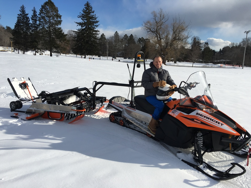 Jim Trudeau on the inaugural grooming lap at Patton Park.