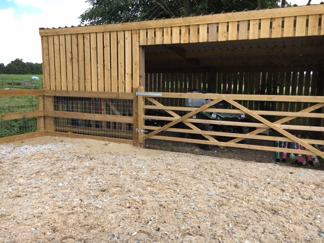 Storage shed for hurdles, jumps, equipment and machinery