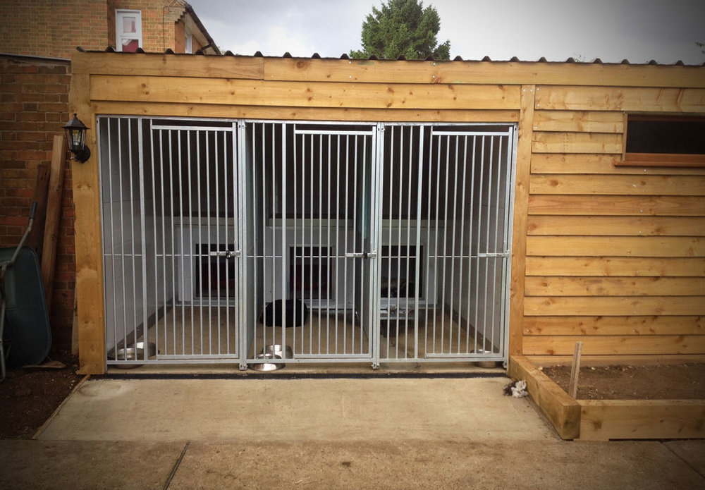 One of our kennel design and builds