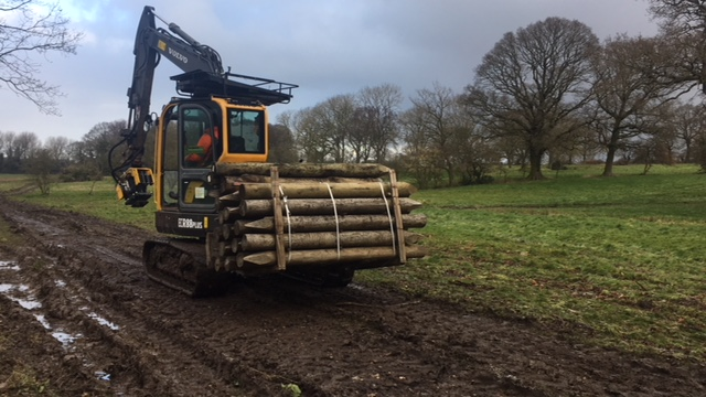 Bringing in the heavy mob! Stock fencing in wet conditions