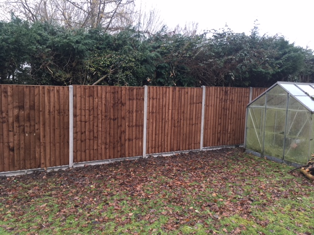 Panel fencing at a domestic property