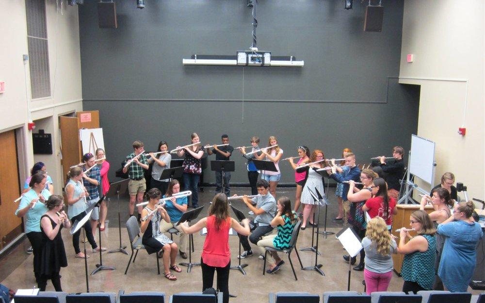 Lexington Flutist with Flute Choir