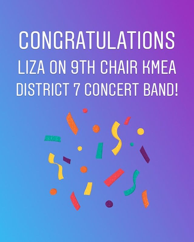 Way to go Liza on making All-District Concert Band!! 👏🏻 . I am equally proud of all of my students that auditioned. There were 87 flutes at auditions, and District 7 is one of the most competitive districts in Kentucky! . Everyone prepared beautifully and became stronger for participating! #goflutes