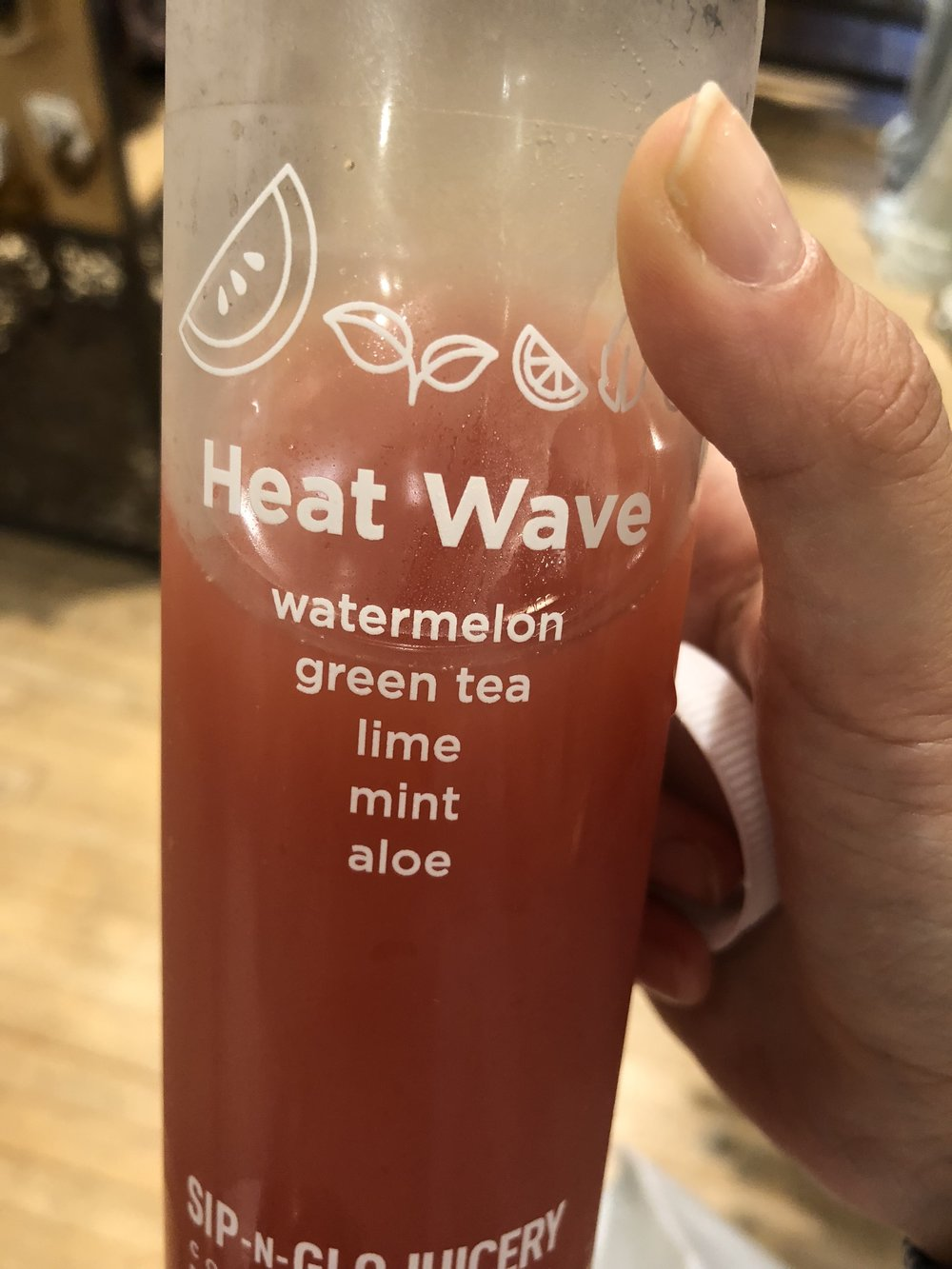 "Philadelphia Wellness Vendor Sip-N-Glo's to-die-for juice called ""Heat Wave"""