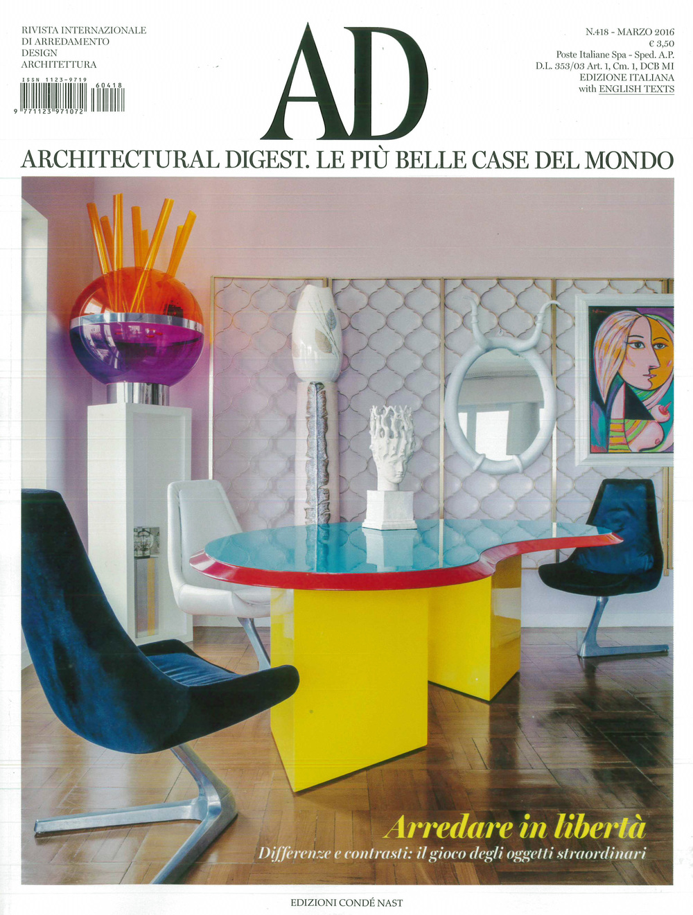We Are Delighted To Be Featured In The Latest Issue Of Architectural Digest,  Italy With Our Project Le Grand Restaurant By Jean François Piège In Paris.