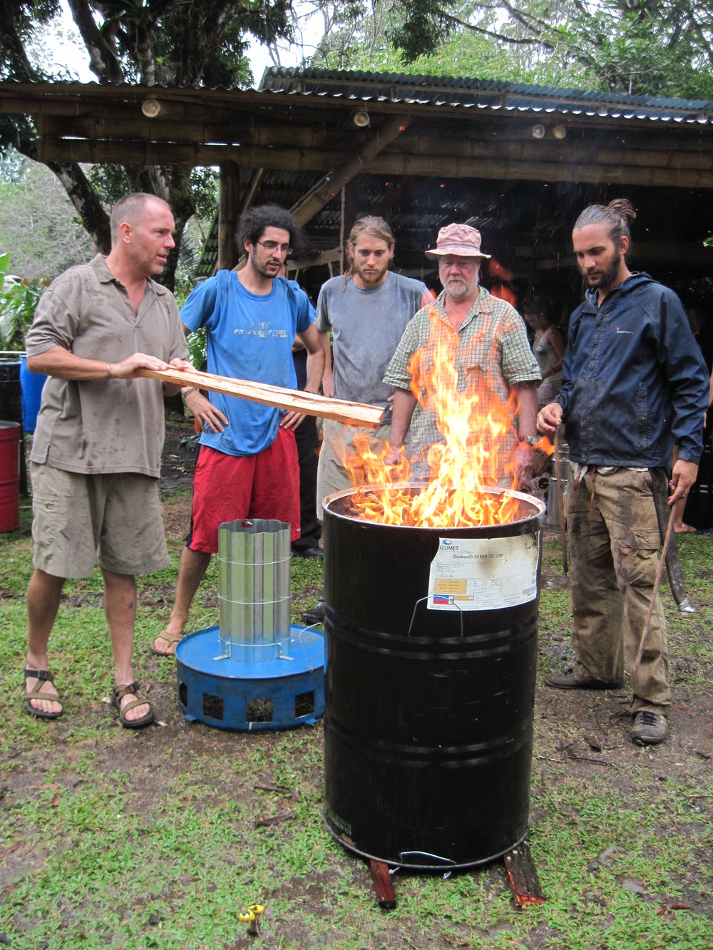 Making Biochar with a TLUD System.