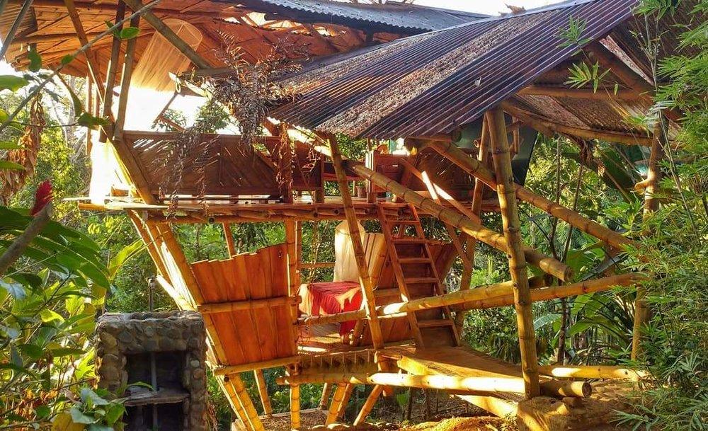 Bamboo building at Rancho Mastatal, a sustainable building material