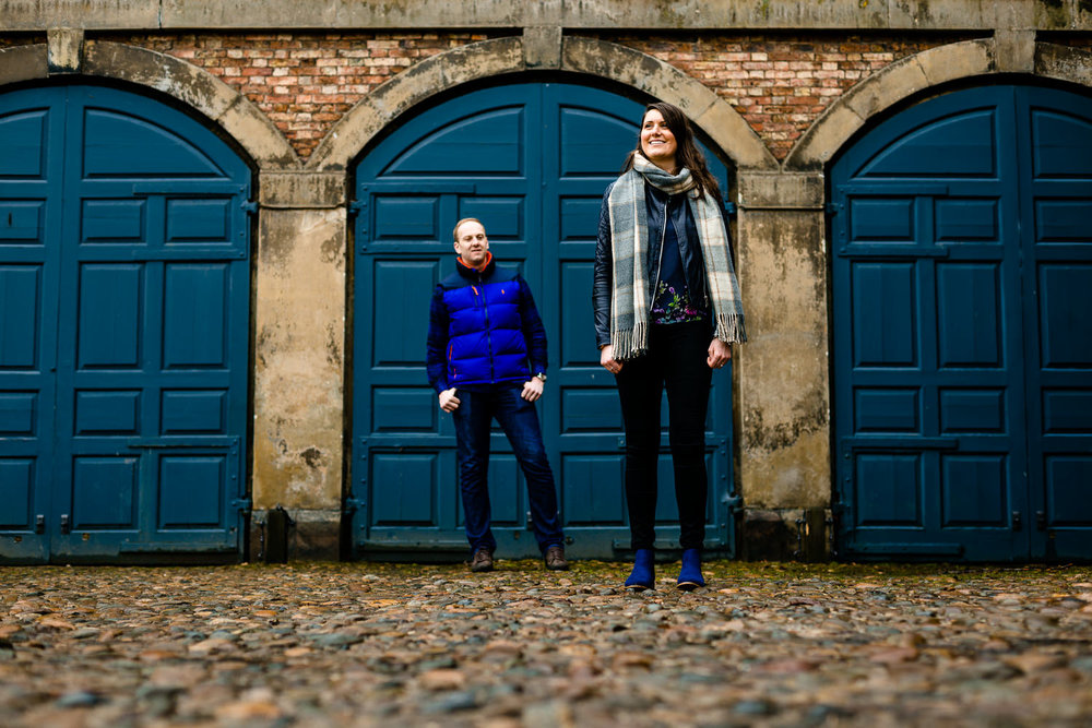 Claire and Damien, pre wedding shoot, Dunham Massey.
