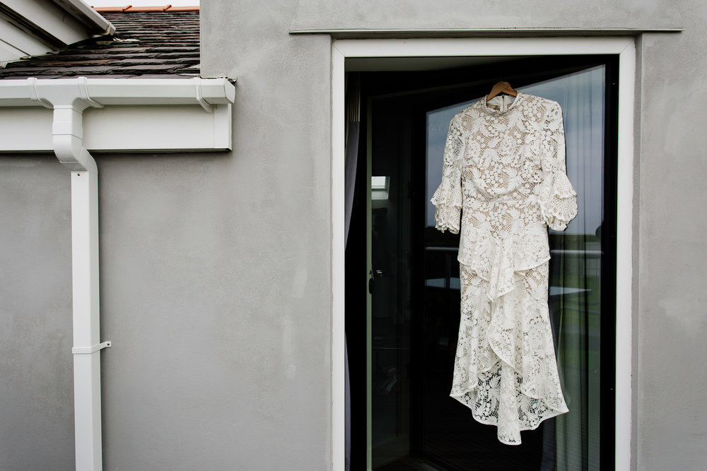 Rebecca Vallance lace boho dress for a festival tipi wedding in Anglesey.