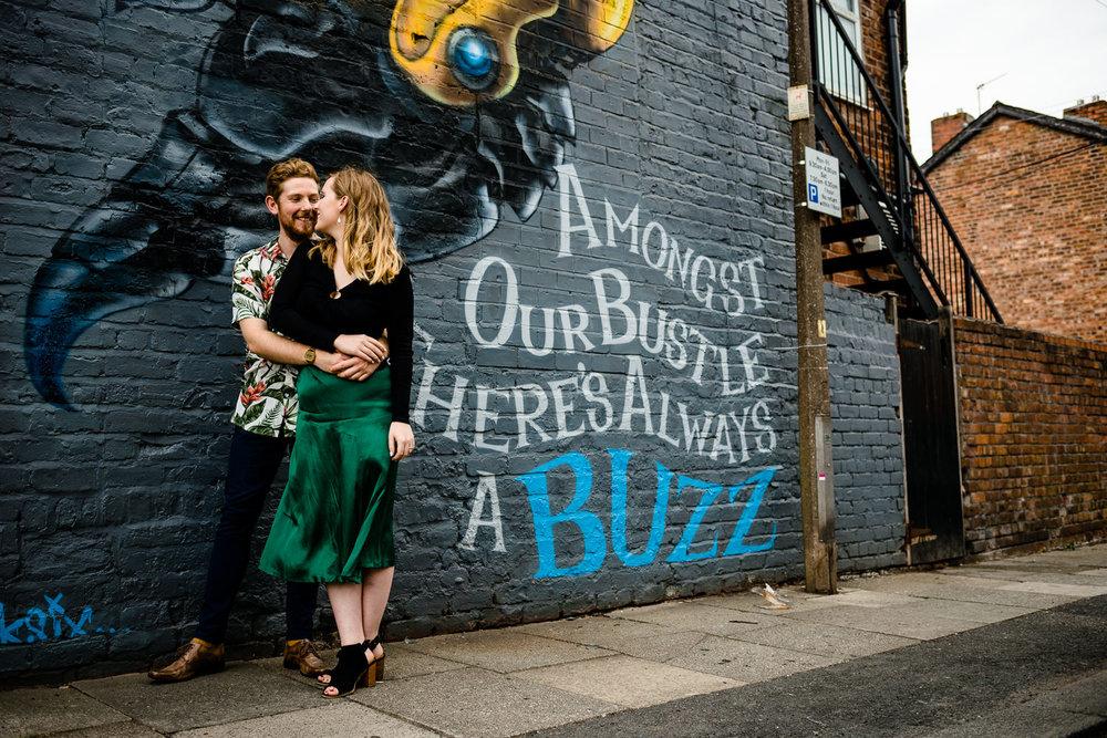Colourful, urban pre wedding shoot.
