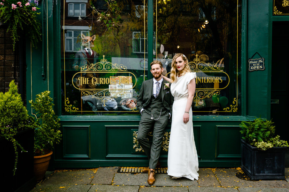 Rose & Josh on Beech Road in Chorlton by Wedding Photograpger, Zoe & Tom of About Today Photography.