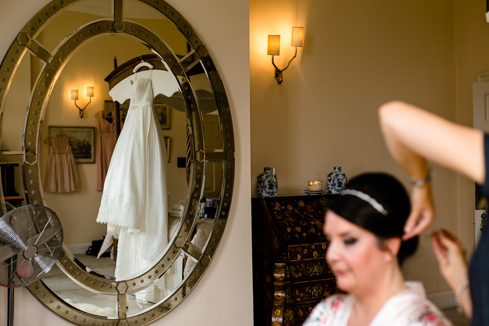 Bridal preparations, Iscoyd Park wedding photography
