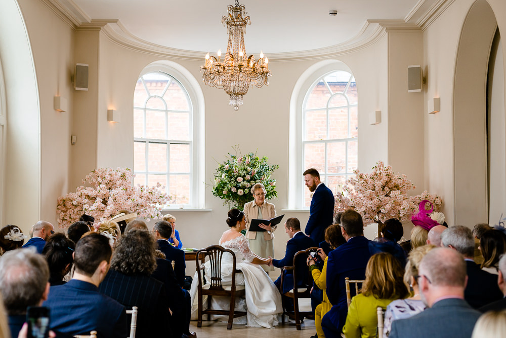 Iscoyd Park wedding ceremony by Zoe and Tom, wedding photographers