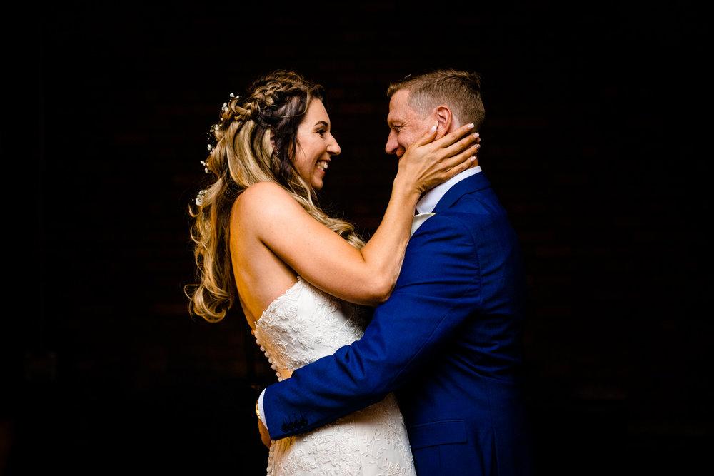 A Victoria Warehouse wedding ceremony.