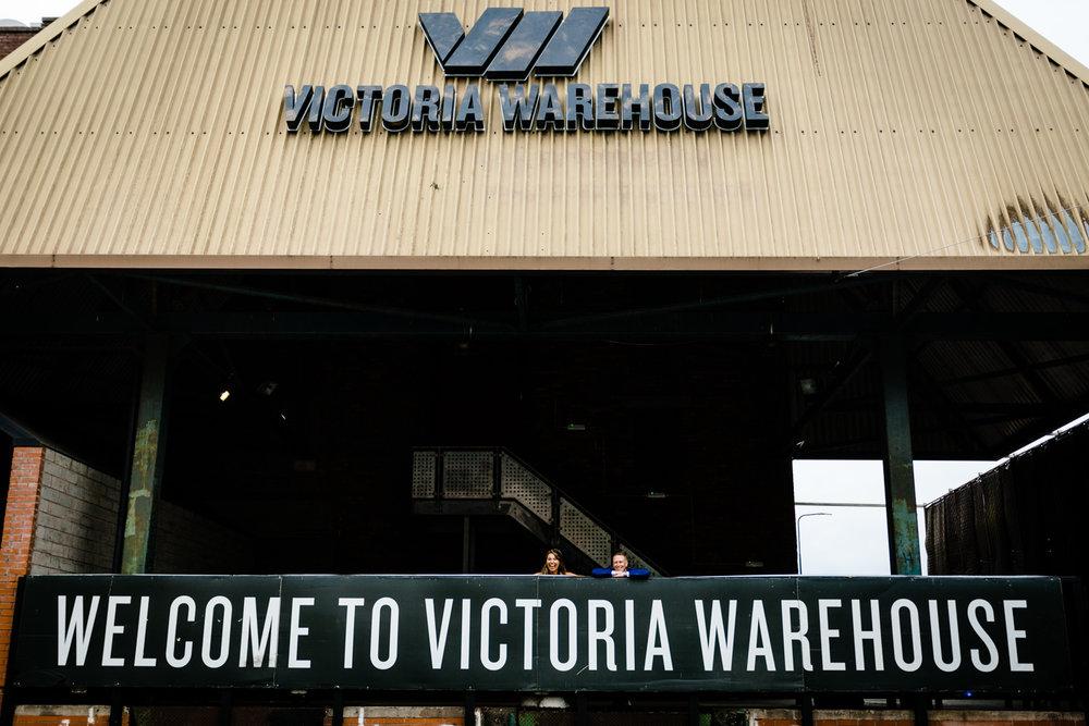 Wedding photos at Victoria Warehouse