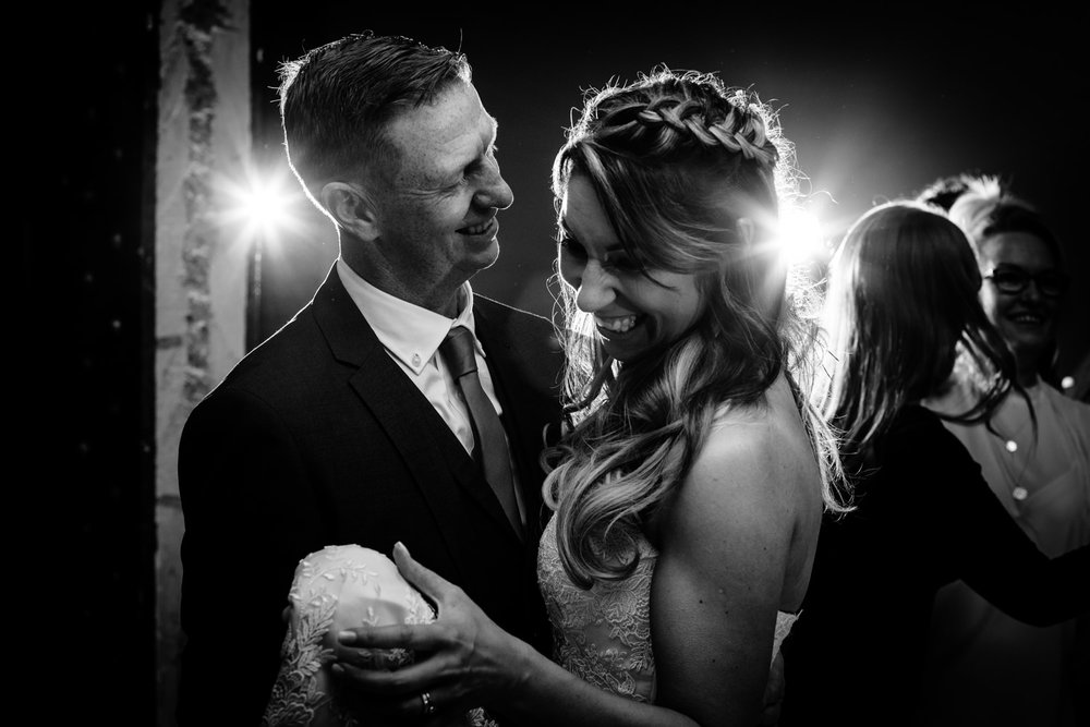 A bride and grooms first dance.